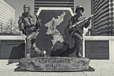 Korean War Memorial Photograph - Korean War Memorial Nashville by Dan Sproul