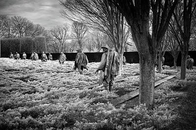Photograph - Korean War Memorial by Paul Seymour