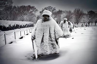 Korean War Memorial Photograph - Korean War Memorial -  Washington D C by Mountain Dreams
