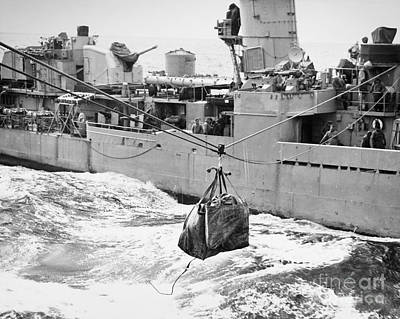 Photograph - Korean War: Navy Mailbag by Granger