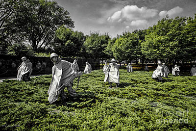 Photograph - Korean War Veterans Memorial #2 by Julian Starks