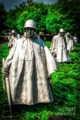 Photograph - Korean War Veterans Memorial #4 by Julian Starks