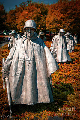 Photograph - Korean War Veterans Memorial #5 by Julian Starks