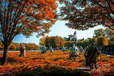 Photograph - Korean War Veterans Memorial #6 by Julian Starks