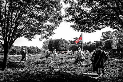Photograph - Korean War Veterans Memorial #7 by Julian Starks