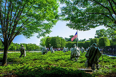 Photograph - Korean War Veterans Memorial #8 by Julian Starks