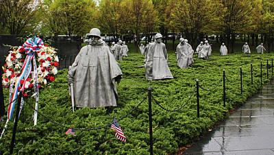 Photograph - Korean War Veterans Memorial by Judy Vincent