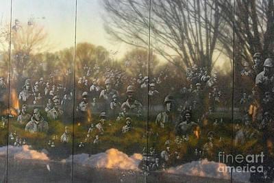 Photograph - Korean War Veterans Memorial Reflections by Karen Jorstad