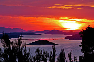 Photograph - Kornati National Park Archipelago Sunset View by Brch Photography