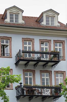 Photograph - Kornmarkt Balconies by Teresa Mucha