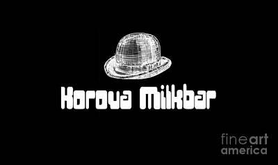 Kubrick Drawing - Korova Milkbar A Clockwork Orange Tee by Edward Fielding