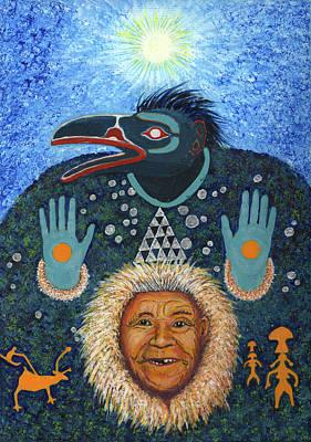 Ally Painting - Koryak Raven Shamaness  by Timothy White