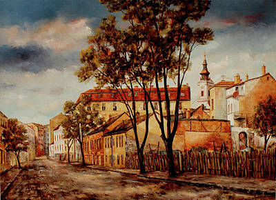 Belgrade Painting - Kosancicev  Wreath - Belgrade by Miroslav Stojkovic
