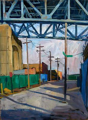 Painting - Kosciuszko Bridge Shadows by Thor Wickstrom