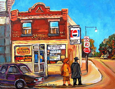 Painting - Kosher Bakery On Hutchison by Carole Spandau