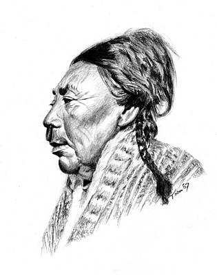 Drawing - Koskimo Woman by Toon De Zwart