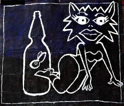 Mixed Media - Kosmic Kitty Karma Cologne by William Tilton
