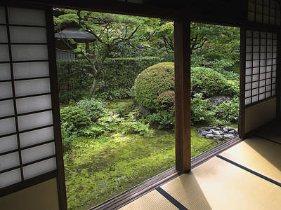 Japan House Photograph - Koto-in Zen Temple Side Garden - Kyoto Japan by Daniel Hagerman
