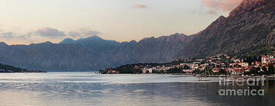Bay Photograph - Kotor Bay, Montenegro, At Sunset by Matt Tilghman