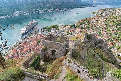 Photograph - Kotor Fortress Ruins by Antony McAulay