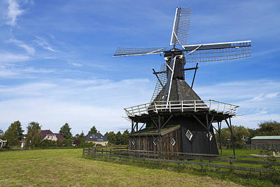 Field. Cloud Photograph - Koudum Molen by Chad Dutson