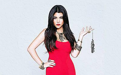 Kourtney Kardashian Art Print
