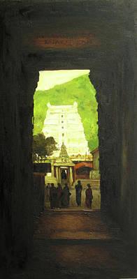 Tamilnadu Painting - Kovil by Sathya Sathya