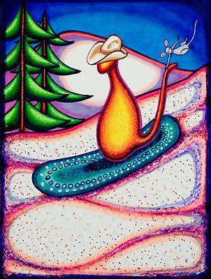 Kowboy Kat Ride Art Print by Laurie Tietjen