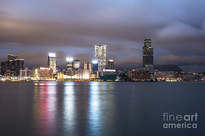 Photograph - Kowloon Skyline In Hong Kong by Didier Marti