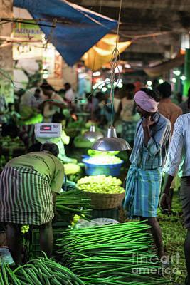 Photograph - Koyambedu Market At Dawn Chennai India by Mike Reid