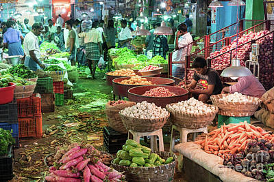 Real Life Photograph - Koyambedu Vegetables Market India by Mike Reid