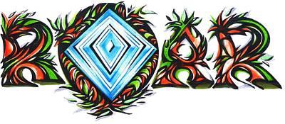 Sports Maze Drawing - Kp Unique Roar Diamond by Kp Unique Clothing