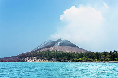 Krakatoa Mountain Art Print