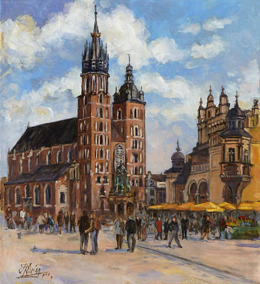 Krakow - Mariacki Church Art Print
