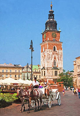 Digital Art - Krakow Carriage by Dennis Cox