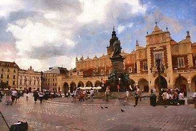 Krakow Main Market Art Print by Boguslaw Florjan