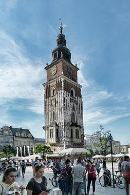 Photograph - Krakow Town Hall Tower by Sharon Popek