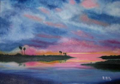 Kramer Island Sunset Art Print