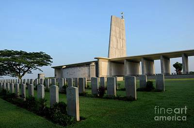 Photograph - Kranji Commonwealth War Memorial Monument And Gravestones Singapore by Imran Ahmed