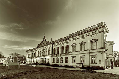 Photograph - Krasinski Family Palace In Warsaw In Monochrome by Julis Simo