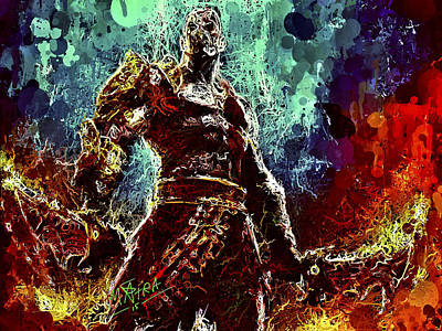 Warrior Goddess Digital Art - Kratos by Matra Art