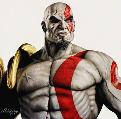 Drawing - Kratos - The Ghost Of Sparta by David Dias