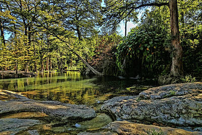 Photograph - Krause Springs Natural Pool by Judy Vincent