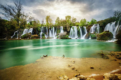 Photograph - Kravica Waterfalls by Alexey Stiop