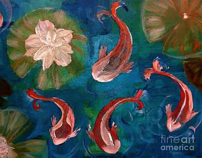 Painting - Krazy Koi Family by Lisa Kaiser