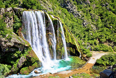 Photograph - Krcic Waterfall In Knin Scenic View by Brch Photography