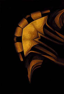 Curvilinear Painting - Kreen Akrore by Barry W King