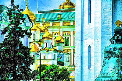 Photograph - Kremlin Domes by Rick Bragan
