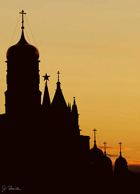 Kremlin Dusk Art Print by Joe Bonita