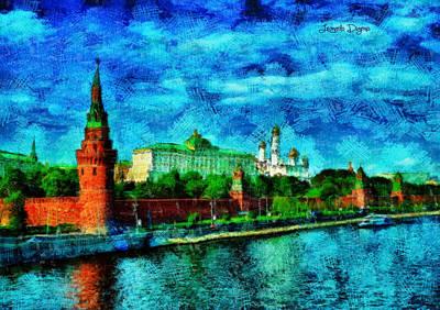 Buildings Painting - Kremlin - Pa by Leonardo Digenio